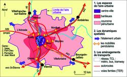 Mobilités et aménagements dans l'aire urbaine de Lyon
