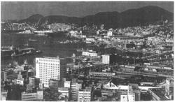 Le littoral de la mégalopole japonaise : Nagasaki