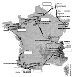 Tracé du tour de France - illustration 2