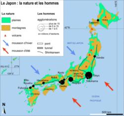 Le japon : la nature et les hommes