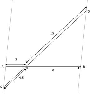 Démontrer que deux droites sont parallèles à l'aide du théorème de Thalès - illustration 2