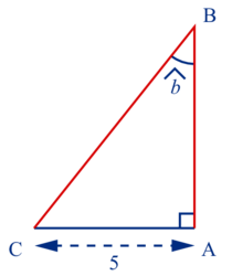 Calculer la longueur d'un côté dans un triangle rectangle - illustration 1
