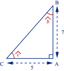Calculer la mesure d'un angle dans un triangle rectangle - illustration 1
