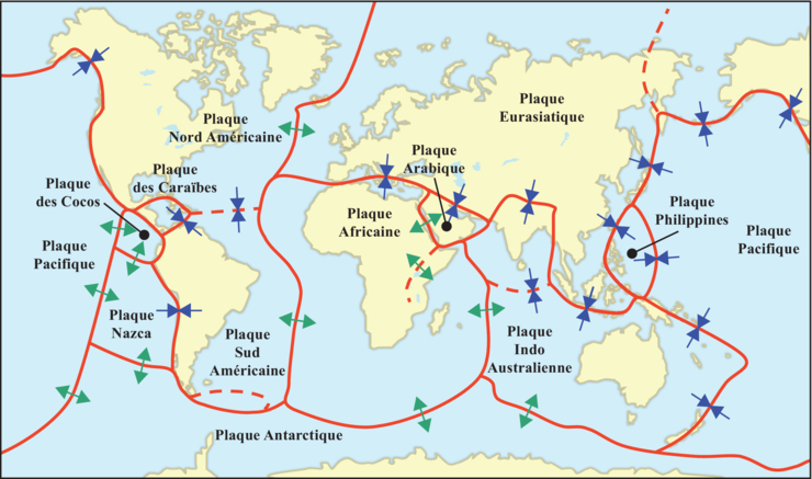 De la terre en surface : les plaques lithosphériques - illustration 3