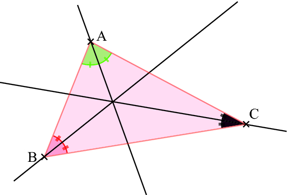 comment construire bissectrice d'un triangle