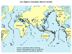 Les zones sismiques dans le monde et en France - illustration 1