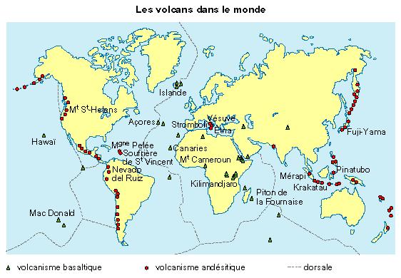 Carte Des Volcans Du Monde | popkensburg