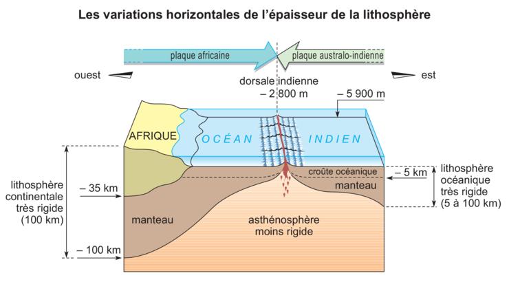 plaque lithospherique definition