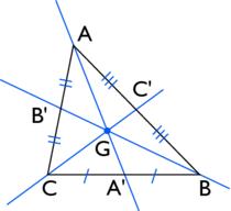 centre de gravité d'un triangle - illustration 1