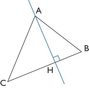 hauteur (dans un triangle) - illustration 2