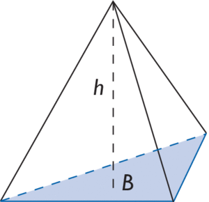 volume d une pyramide a base triangulaire