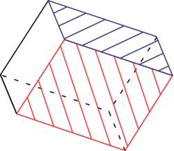 Patron d'un parallélépipède rectangle - illustration 4