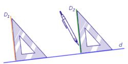 Tracer des droites perpendiculaires ou parallèles - illustration 1