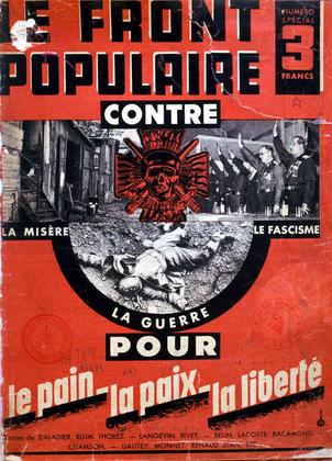 «Le Front populaire contre la misère, le fascisme» (brochure) - illustration 1