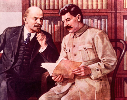 Lénine et Staline (imagerie soviétique) - illustration 1
