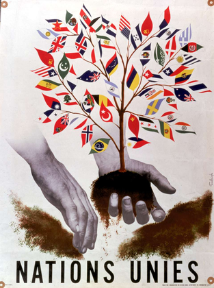 L'arbre des Nations unies mis en terre (affiche) - illustration 1
