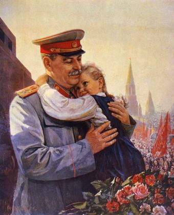 Staline portant un enfant dans les bras (peinture) - illustration 1