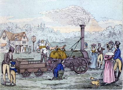 La Rocket, une des premières locomotives à vapeur - illustration 1