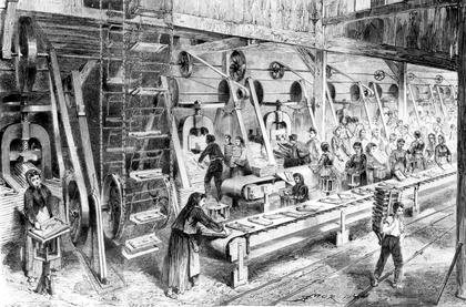 Fabrique de tuiles à Montchanin (gravure) - illustration 1