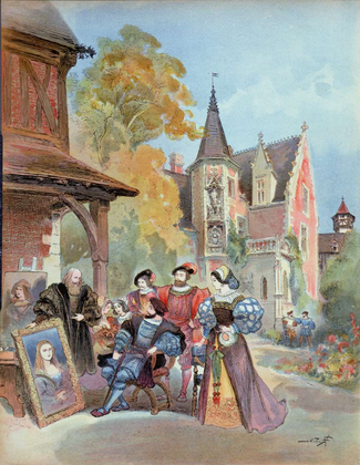 François Ier achetant La Joconde (illustration) - illustration 1
