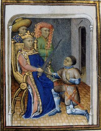 Charles V remettant à Du Guesclin l'épée de connétable - illustration 1