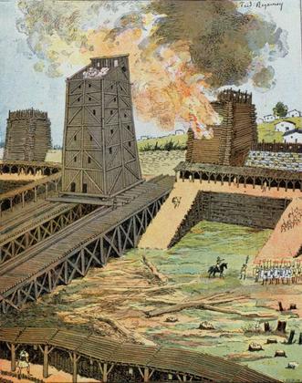 Siège d'Avaricum par Jules César - illustration 1