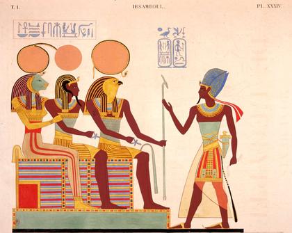 Le pharaon Ramsès II rendant le culte aux dieux - illustration 1
