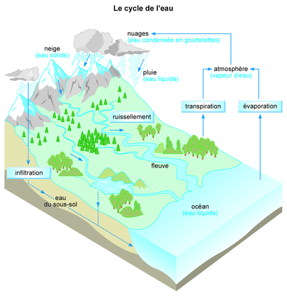 Le cycle de l'eau - illustration 1