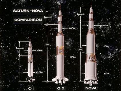 Les fusées Saturn, Saturn V et Nova