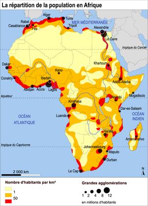 La répartition de la population en Afrique - illustration 1