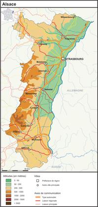 L'Alsace (fond de carte complété) - illustration 1