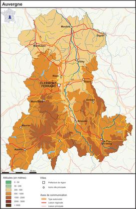 L'Auvergne (fond de carte complété) - illustration 1