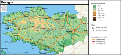 La Bretagne (fond de carte complété) - illustration 1