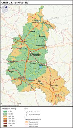 Champagne-Ardenne (fond de carte complété) - illustration 1
