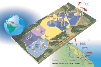 Implantation du Centre spatial guyanais - illustration 1