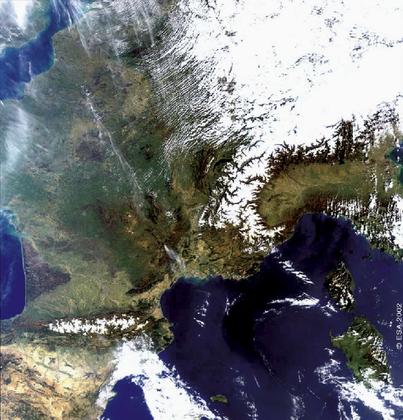 Une partie de l'Europe vue par Envisat - illustration 1