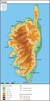 La Corse (fond de carte complété) - illustration 1
