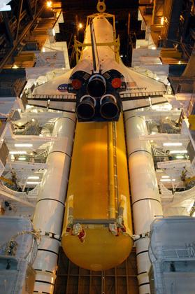La navette spatiale Discovery, avant son lancement