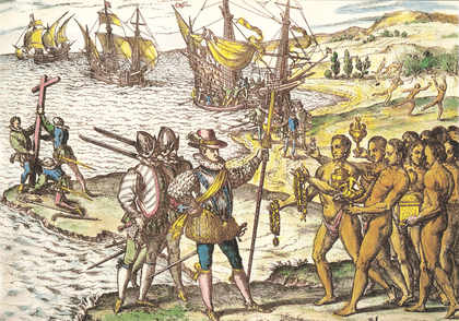 Arrivée de Christophe Colomb à Hispaniola - illustration 1