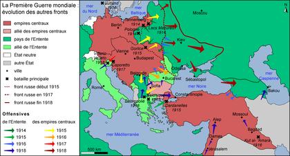 Évolution des autres fronts (1914-1918) - illustration 1