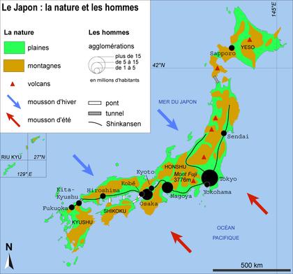Le Japon : la nature et les hommes - illustration 1