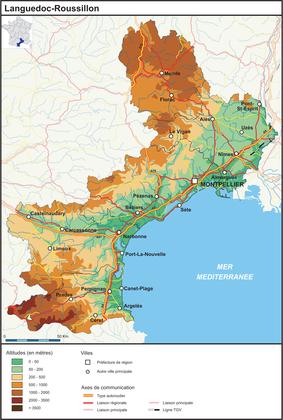 Le Languedoc-Roussillon (fond de carte complété) - illustration 1