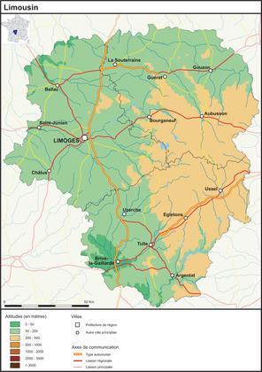 Le Limousin (fond de carte complété) - illustration 1