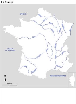 La France : fond de carte - illustration 1