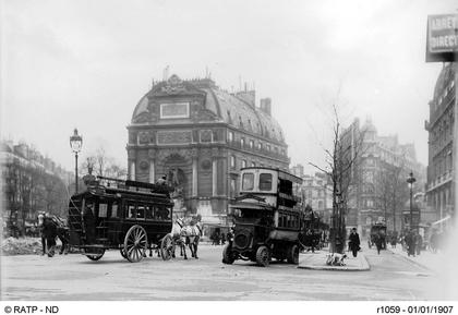 La place Saint-Michel, à Paris, en 1907 - illustration 1