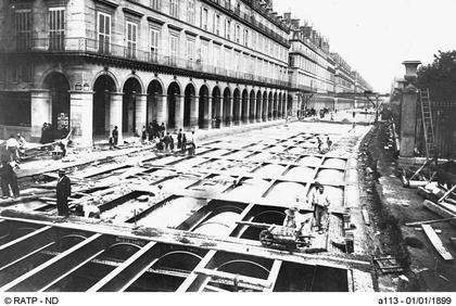 Le chantier de la ligne 1 du métro, rue de Rivoli - illustration 1