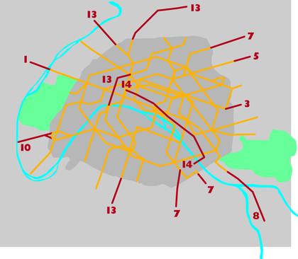 Le réseau du métro parisien en 2000 - illustration 1