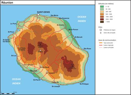 La Réunion (fond de carte complété) - illustration 1