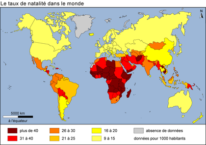 Le taux de natalité dans le monde - illustration 1