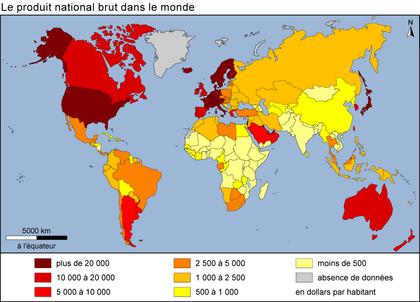 monde contemporain répartition des richesses   Plat